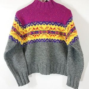 Express Tricot Vintage Wool Cropped Sweater